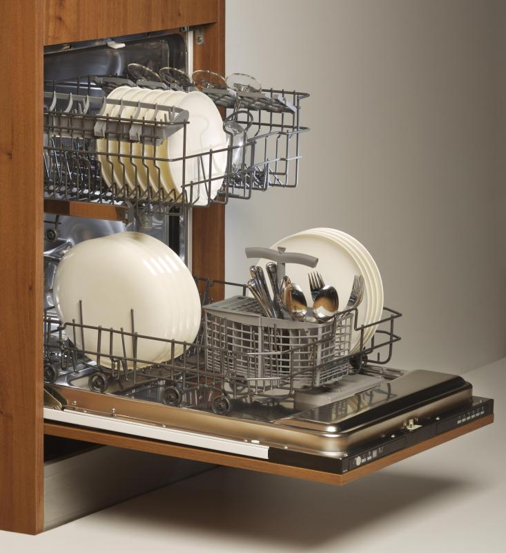 """Water hammer"" may be heard when the dishwasher changes wash cycles."
