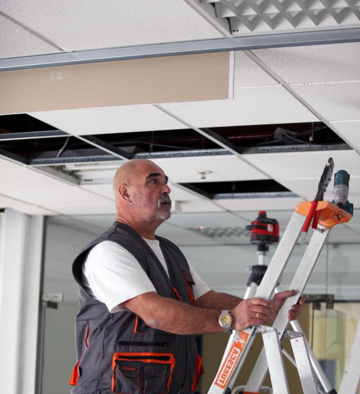 Acoustic ceilings are a popular choice in many offices, businesses and schools.