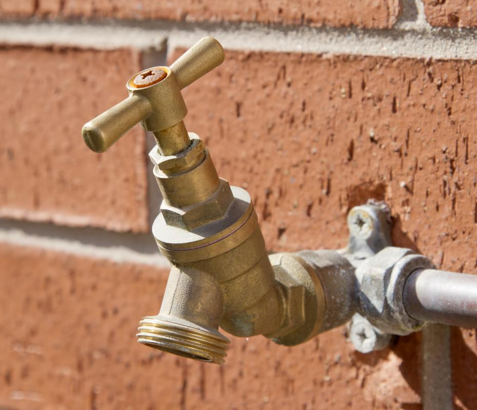 Replacing older faucets with low flow fixtures can reduce the velocity of water running through the pipes.