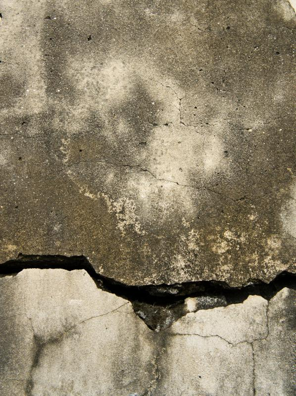 A closeup of a crack in concrete.